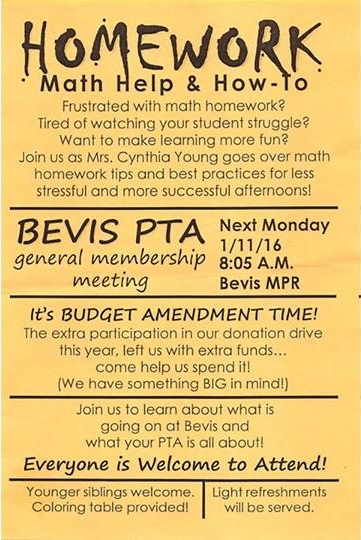 All Welcome To The Pta General Membership Meeting On