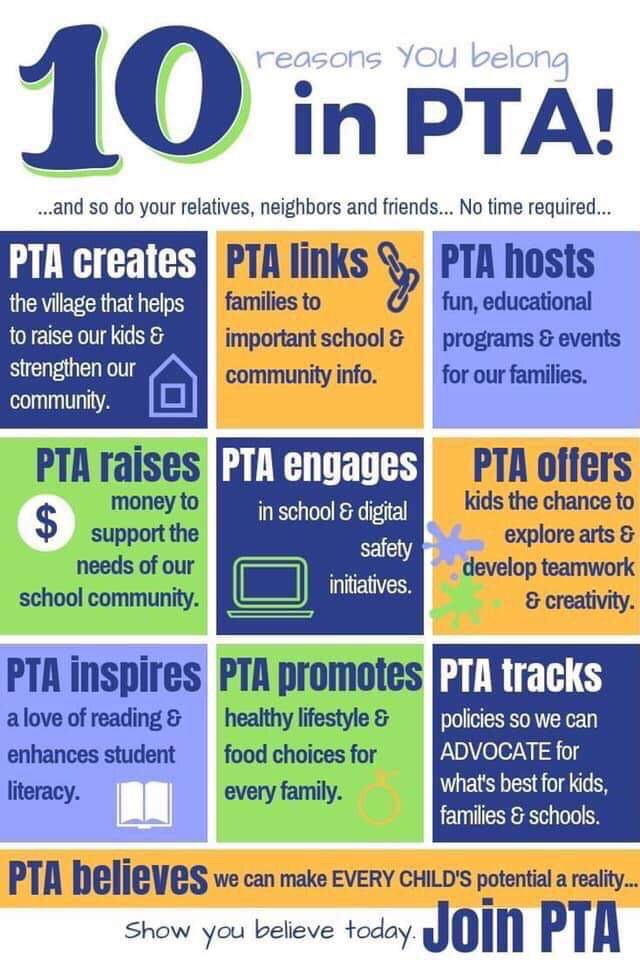 PTA Membership | Colleen Bevis Elementary PTA